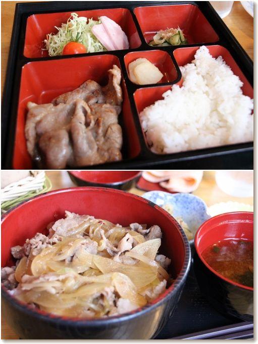 生姜焼き定食&飛騨牛丼♪