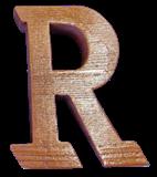 切り文字R