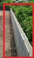 コンクリートブロック(フェンス設置前)