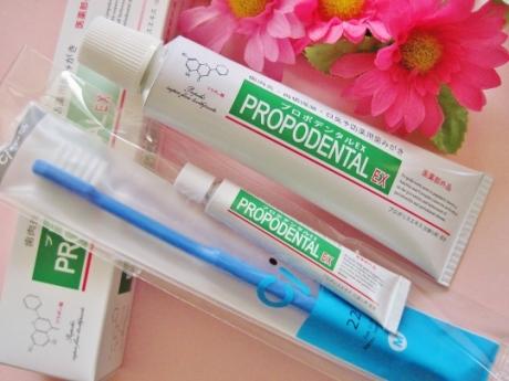歯周病、歯槽膿漏、口臭、歯垢、虫歯予防、歯を白くする薬用歯磨き【プロポデンタルEx】