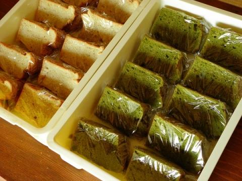 バニラシフォンケーキ&抹茶シフォンケーキ