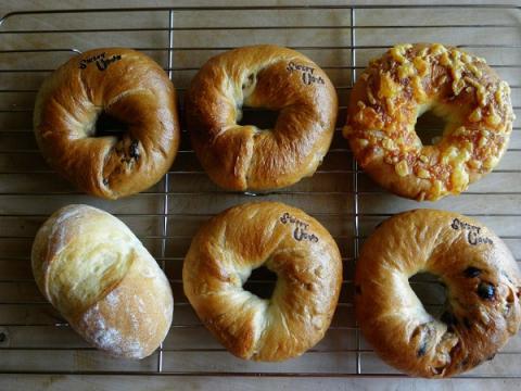 ベーグル5種とプチパン