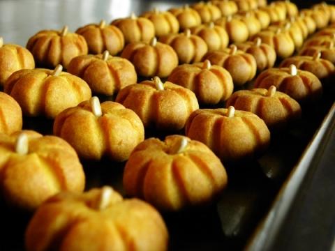 かぼちゃクッキー 焼き上がり