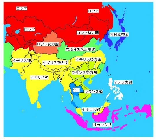 アジア植民地図