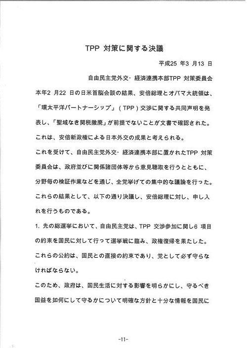 「TPPを考える国民会議」栃木県対話集会(資料編2)⑪