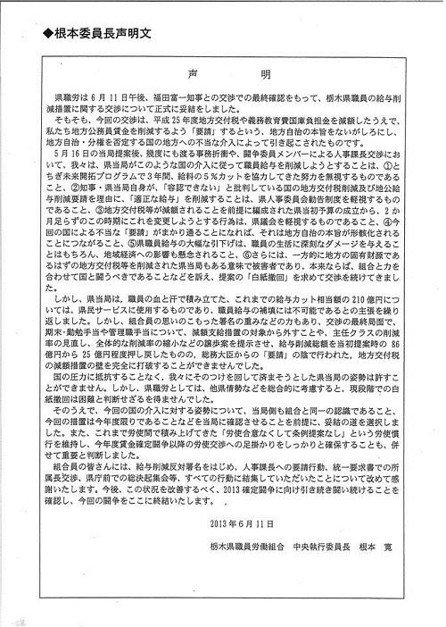 平成25年度栃木県議会<第319回臨時会議>散会④