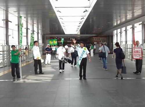 谷ひろゆき<応援記>駅頭ご挨拶!