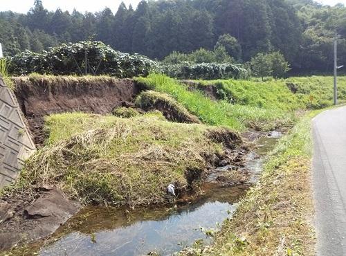 """8月6日(火)の豪雨の影響によると思われる""""土砂崩れ""""<現地調査>⑧"""