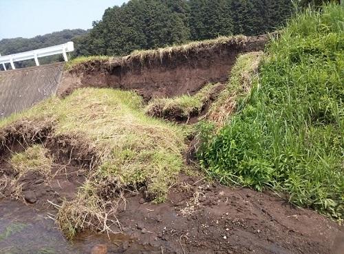 """8月6日(火)の豪雨の影響によると思われる""""土砂崩れ""""<現地調査>⑨"""