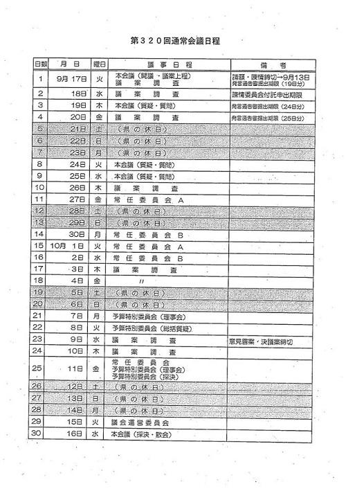 栃木県議会9月通常会議<本会議>質問戦、終わる!⑤