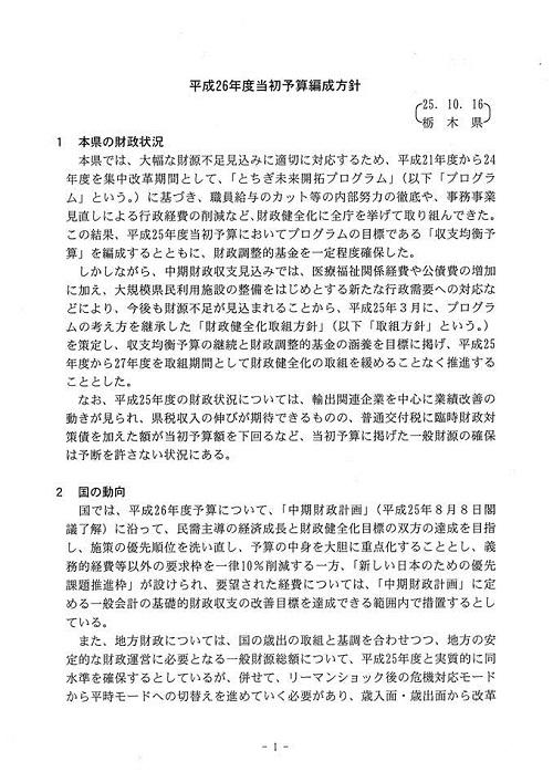 栃木県議会 9月通常会議『本会議』採決 散会へ②