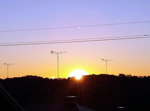 清々しい朝!