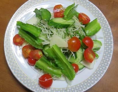 シカクマメのサラダ