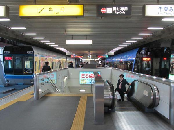 """千葉駅で""""URBAN FLYER 0-type""""と並んだ「俺の妹。」号。"""