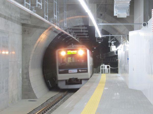 世田谷代田駅端のシールドトンネル出口