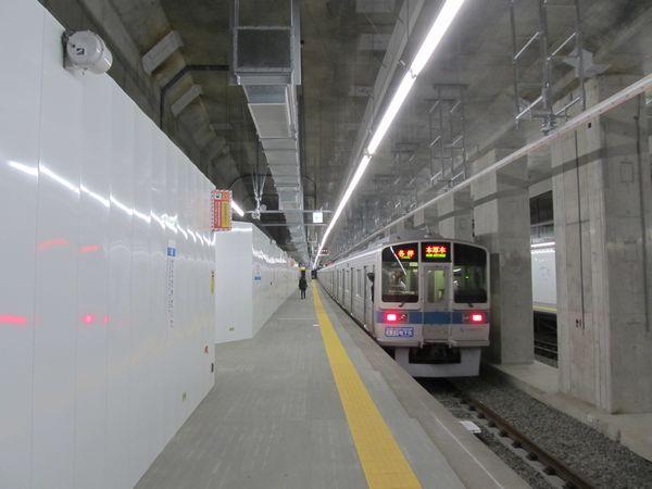 2013年に地下化された世田谷代田駅。現在のホームは急行線上にあるため、2017年度の緩行線開通後は閉鎖される。