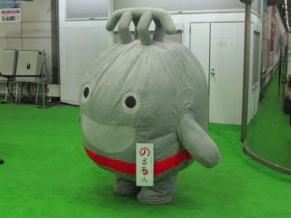 再び渋谷に登場した「のるるん」着ぐるみ
