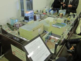 現在の渋谷駅のジオラマ