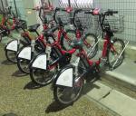 石巻より車輪が小さい伊達バイクたち。手前が最初に乗った111号