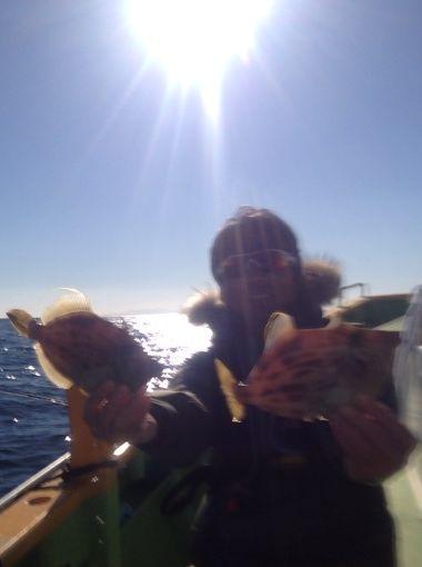 みのすけ丸でカワハギ釣り