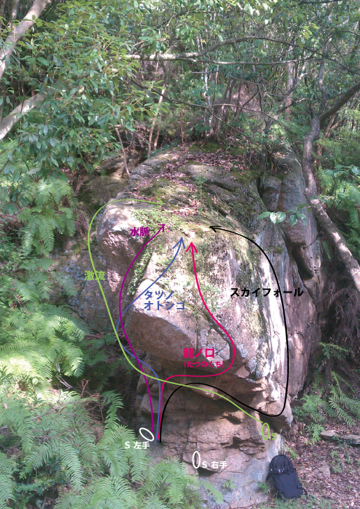錦龍の滝-ドラゴン岩