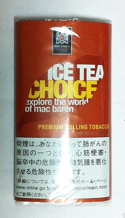 手巻きタバコ シャグ choice_icetea チョイス チョイス・アイスティー MAC_BAREN マックバレン