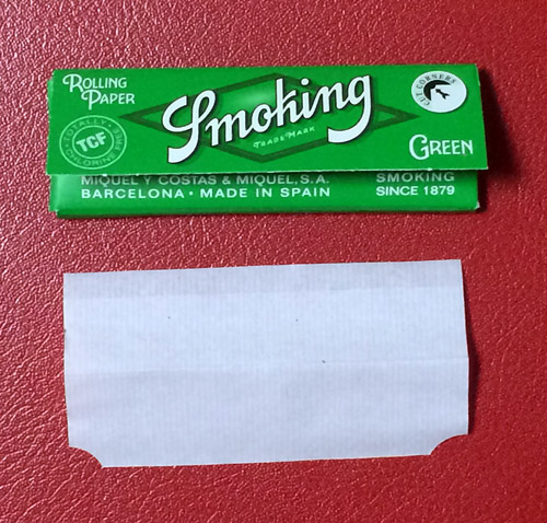 Smoking_Green_cut_corners スモーキング・グリーン・カットコーナー 手巻きタバコ 巻紙 ローリングペーパー RYO