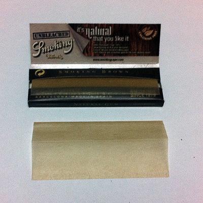 スモーキング No.8ブラウン Smoking_No.8_Brown 手巻きタバコ 巻紙 スローバーニング 薄紙 スローバーニング 極薄 ライスペーパー 無漂白 アンブリーチ