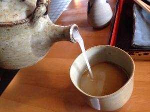 梅そば 蕎麦湯
