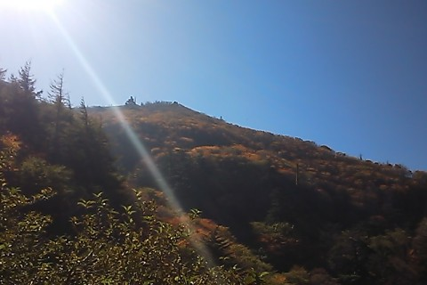 目指す剣山