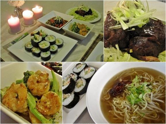Sushi dinner and kakuni ramen