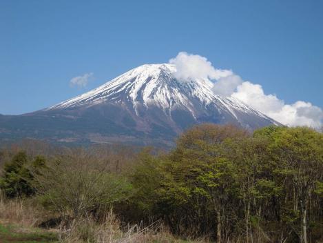 富士山を御殿場方面からデジカメ写真撮影したゴールデンウイーク