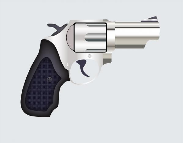 小型の拳銃 Vector Pistol Illustration