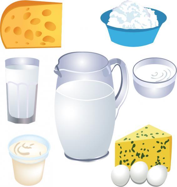 乳製品のイラスト Milk Products Vector