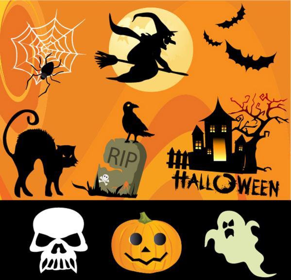 ハロウィン デザイン素材 Halloween design elements