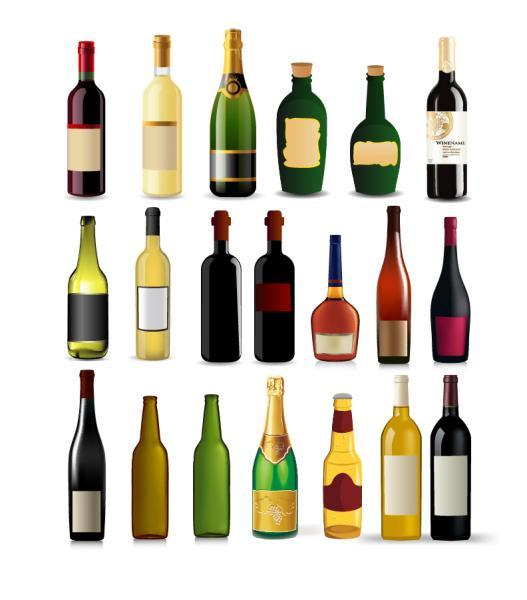 色・形違いのボトル コレクション Bottle Vector Collection