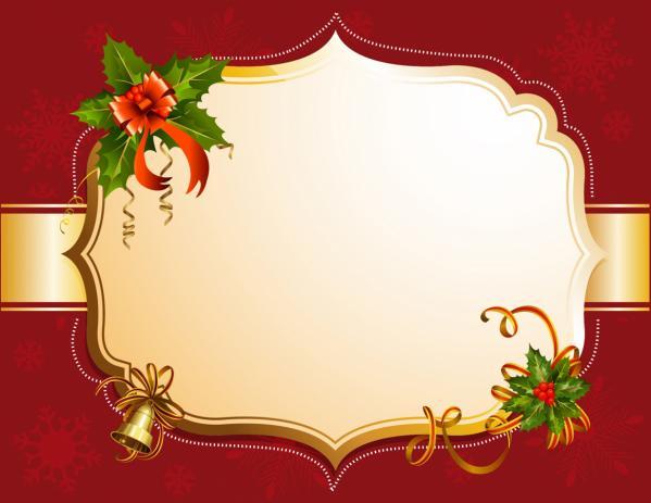 赤いクリスマス飾りのフレーム Red christmas frame