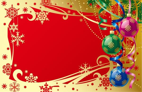 ゴージャスなクリスマス飾りのフレーム gorgeous christmas background