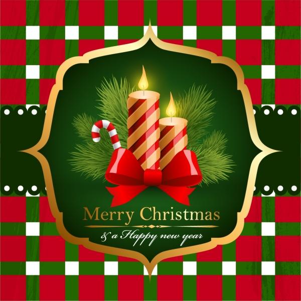 ロウソクを灯したクリスマスの背景 beautiful christmas background