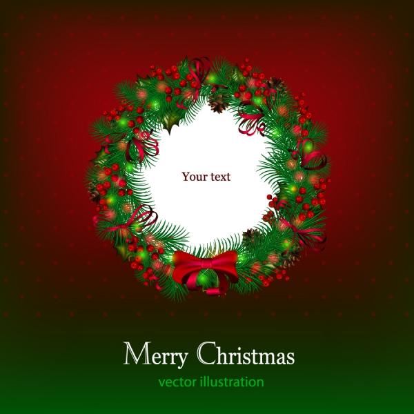 美しいクリスマス花輪の背景 beautiful christmas background