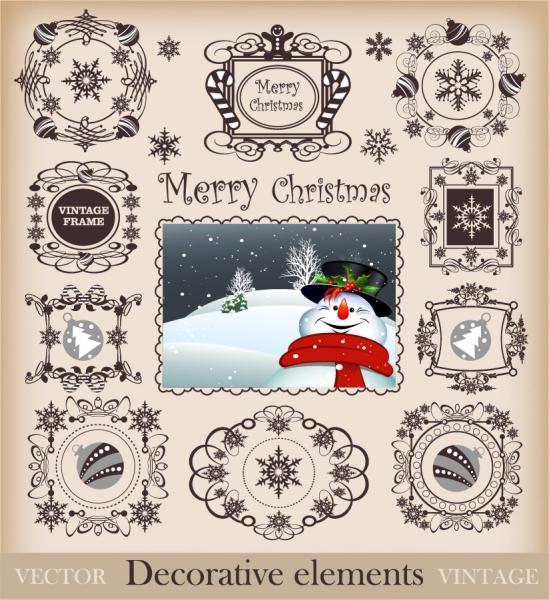 クリスマス用飾り罫 christmas pattern border