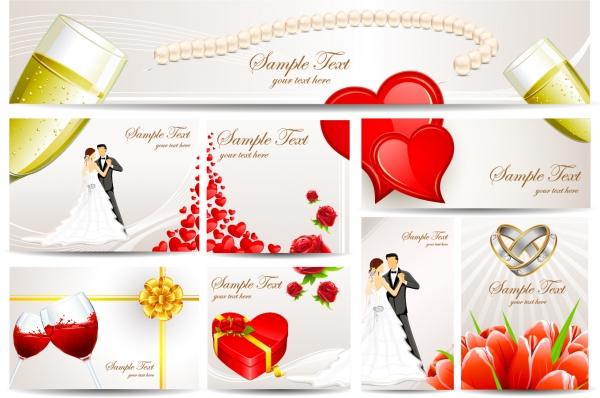 結婚式の招待状テンプレート exquisite wedding greeting card