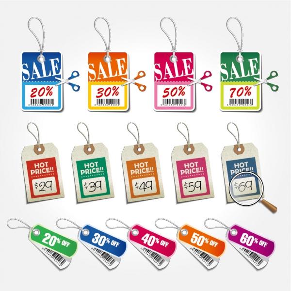 美しい値引きセール タグ beautiful color price sale tag