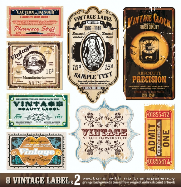 Vintage wine label collection free vector Free eps editor
