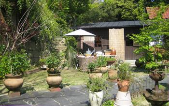 ひらきや 庭