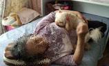 母と昼寝1