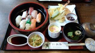 お昼ご飯 お寿司&天ぷら