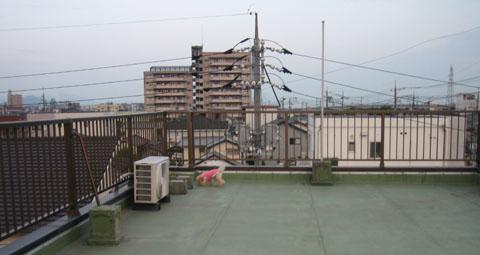 夕方の屋上2
