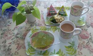 お茶の準備