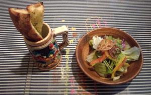 バゲット&サラダ